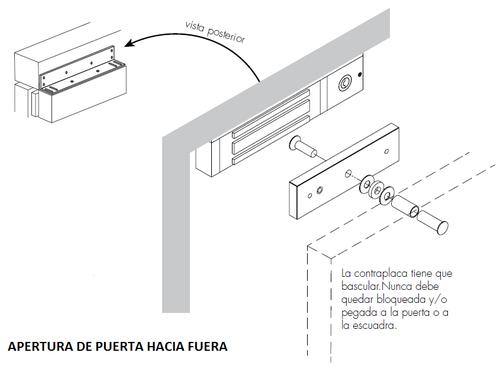 Cerradura Electromagntica Potencia De Cierre 300 Kg Con Led